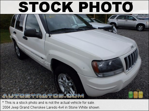 Stock photo for this 2004 Jeep Grand Cherokee Laredo 4x4 4.0 Liter OHV 12V Inline 6 Cylinder 4 Speed Automatic