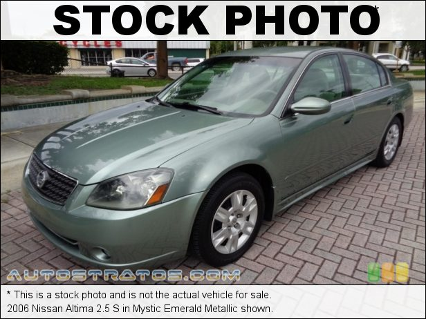 Stock photo for this 2006 Nissan Altima 2.5 S 2.5 Liter DOHC 16V CVTC 4 Cylinder 4 Speed Automatic