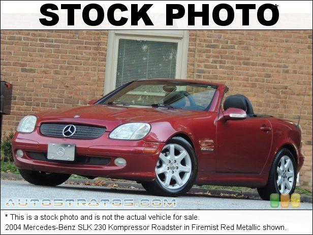 Stock photo for this 2004 Mercedes-Benz SLK 230 Kompressor Roadster 2.3 Liter Supercharged DOHC 16-Valve 4 Cylinder 5 Speed Automatic