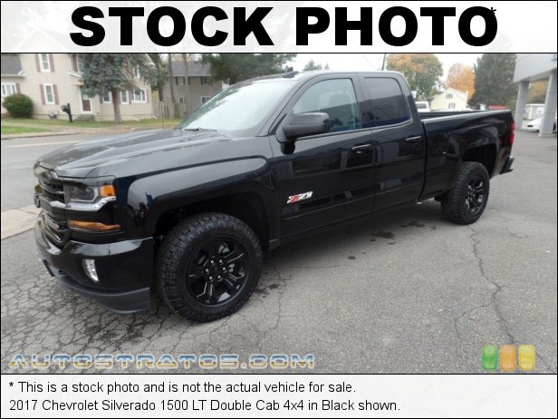 Stock photo for this 2017 Chevrolet Silverado 1500 LT Double Cab 4x4 5.3 Liter DI OHV 16-Valve VVT EcoTech3 V8 6 Speed Automatic