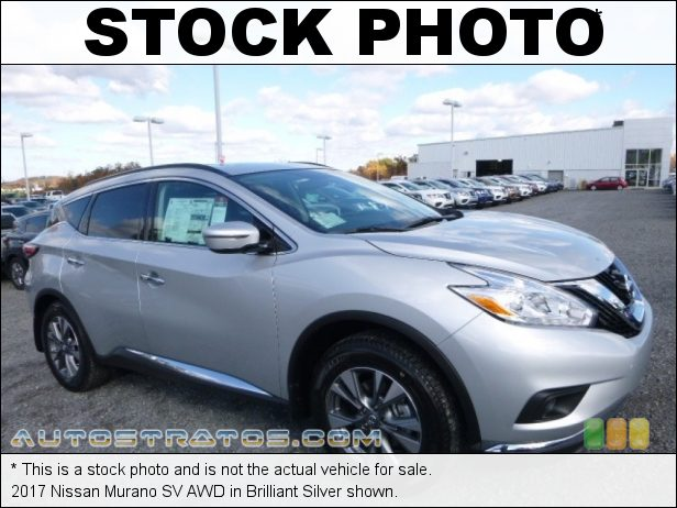 Stock photo for this 2017 Nissan Murano SV AWD 3.5 Liter DOHC 24-Valve VVT V6 Xtronic CVT Automatic