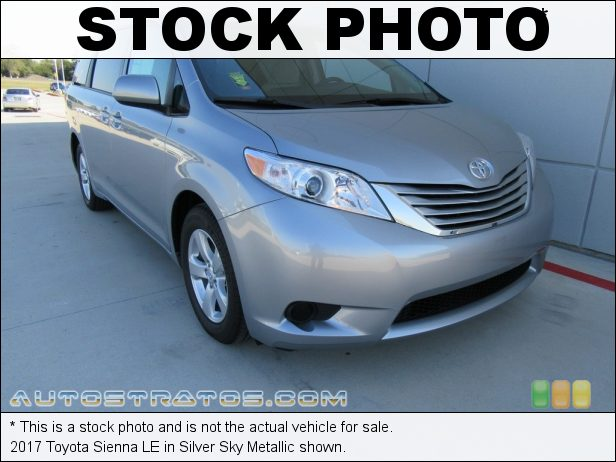 Stock photo for this 2017 Toyota Sienna LE 3.5 Liter DOHC 24-Valve Dual VVT-i V6 8 Speed Automatic