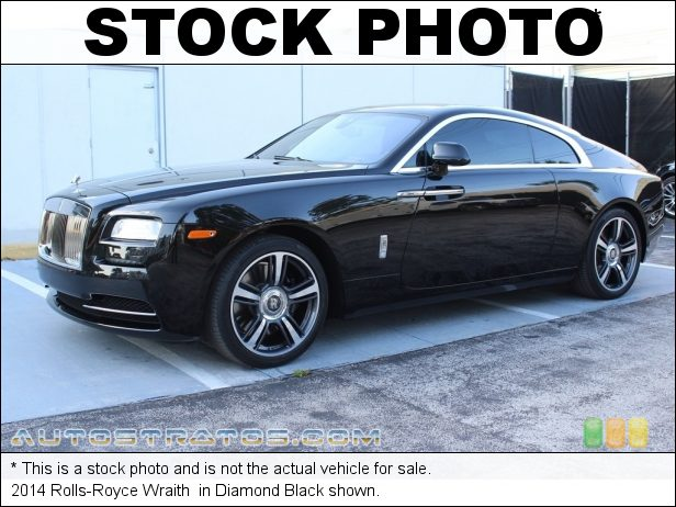 Stock photo for this 2014 Rolls-Royce Wraith  6.6 Liter Twin Turbocharged DOHC 48-Valve VVT V12 8 Speed Automatic
