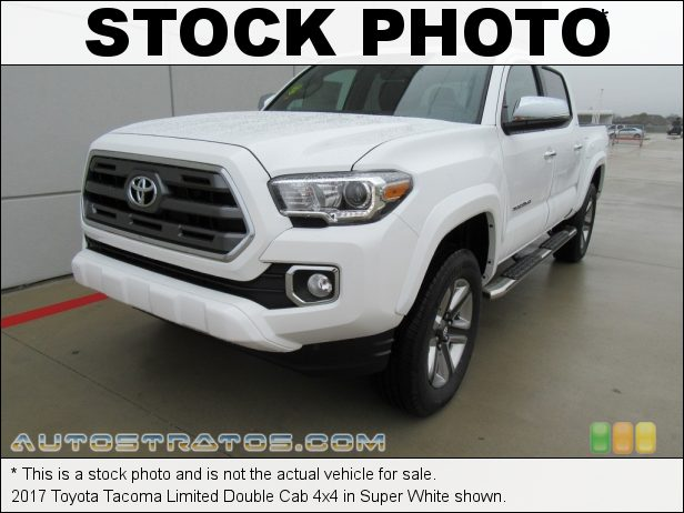 Stock photo for this 2017 Toyota Tacoma Limited Double Cab 4x4 3.5 Liter DOHC 24-Valve VVT-iW V6 6 Speed ECT-i Automatic