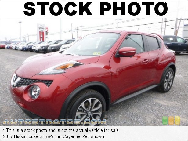 Stock photo for this 2017 Nissan Juke AWD 1.6 Liter Turbocharged DOHC 16-Valve VVT 4 Cylinder Xtronic CVT Automatic