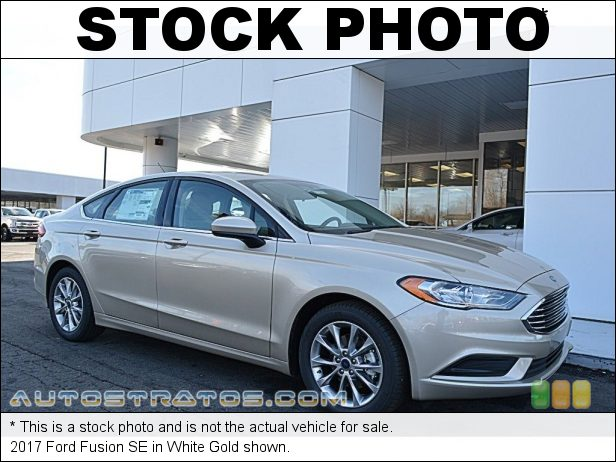 Stock photo for this 2017 Ford Fusion SE 2.5 Liter DOHC 16-Valve i-VCT 4 Cylinder 6 Speed Automatic
