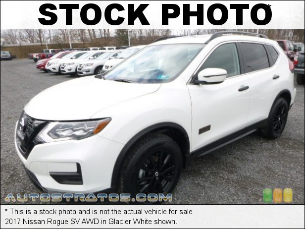 Stock photo for this 2017 Nissan Rogue SV AWD 2.5 Liter DOHC 16-Valve VVT 4 Cylinder Xtronic CVT Automatic