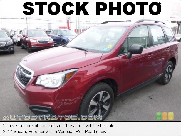 Stock photo for this 2017 Subaru Forester 2.5i 2.5 Liter DOHC 16-Valve VVT Flat 4 Cylinder Lineartronic CVT Automatic