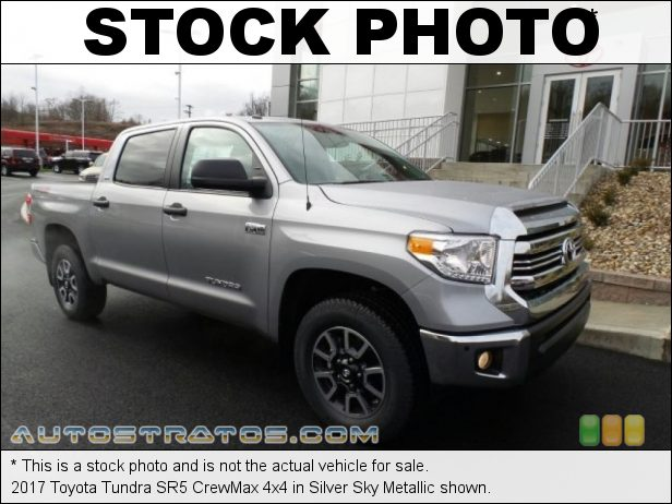 Stock photo for this 2017 Toyota Tundra SR5 CrewMax 4x4 5.7 Liter i-Force DOHC 32-Valve VVT-i V8 6 Speed ECT-i Automatic