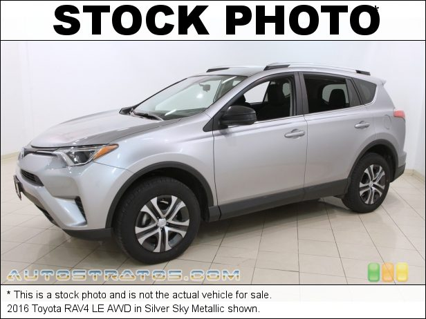 Stock photo for this 2016 Toyota RAV4 LE AWD 2.5 Liter DOHC 16-Valve Dual VVT-i 4 Cylinder 6 Speed ECT-i Automatic