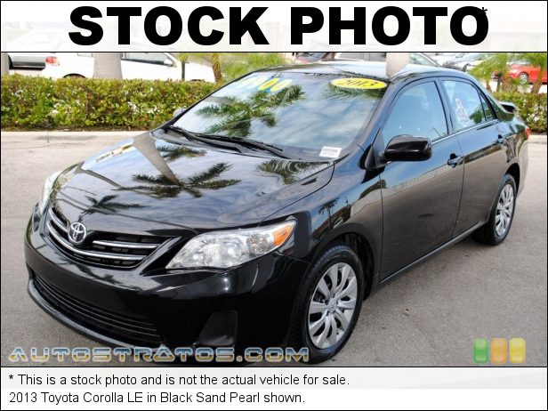 Stock photo for this 2013 Toyota Corolla LE 1.8 Liter DOHC 16-Valve Dual VVT-i 4 Cylinder 4 Speed ECT-i Automatic