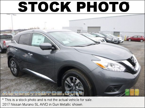 Stock photo for this 2017 Nissan Murano AWD 3.5 Liter DOHC 24-Valve VVT V6 Xtronic CVT Automatic