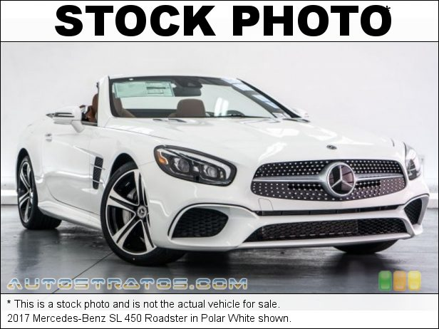 Stock photo for this 2017 Mercedes-Benz SL 450 Roadster 3.0 Liter DI biturbo DOHC 24-Valve VVT V6 9 Speed Automatic