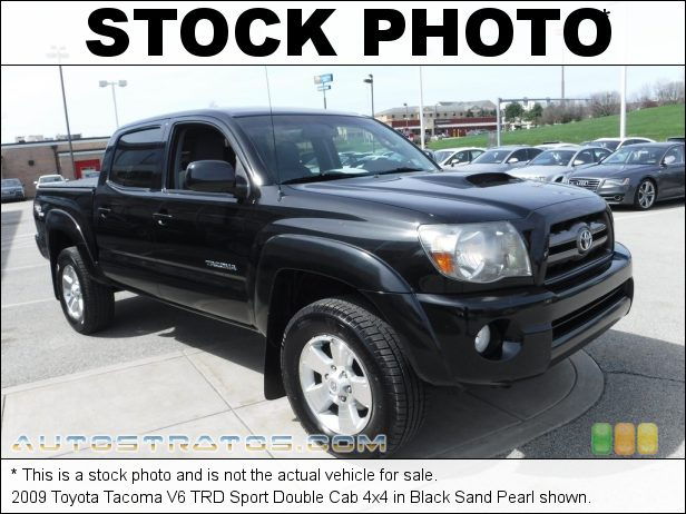Stock photo for this 2009 Toyota Tacoma V6 Double Cab 4x4 4.0 Liter DOHC 24-Valve VVT-i V6 5 Speed ECT-i Automatic