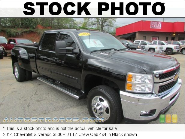 Stock photo for this 2014 Chevrolet Silverado 3500HD LTZ Crew Cab 4x4 6.6 Liter OHV 32-Valve Duramax Turbo-Diesel V8 6 Speed Allison Automatic