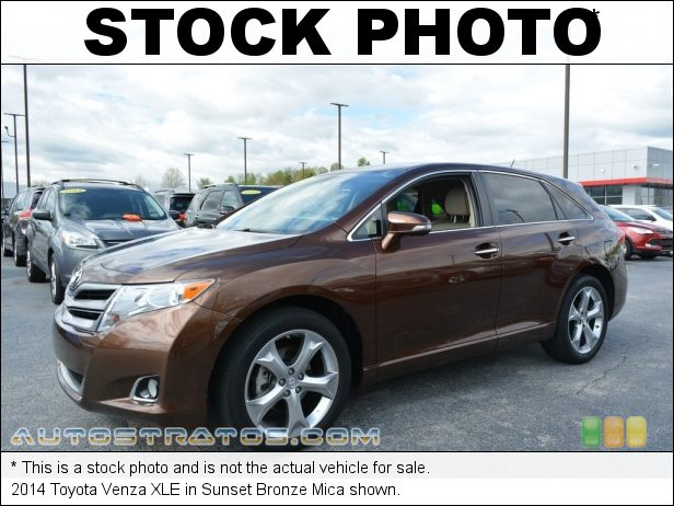 Stock photo for this 2014 Toyota Venza  3.5 Liter DOHC 24-Valve Dual VVT-i V6 6 Speed ECT-i Automatic