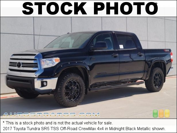 Stock photo for this 2017 Toyota Tundra 4x4 5.7 Liter i-Force DOHC 32-Valve VVT-i V8 6 Speed ECT-i Automatic