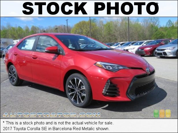 Stock photo for this 2017 Toyota Corolla  1.8 Liter DOHC 16-Valve VVT-i 4 Cylinder CVTi-S Automatic