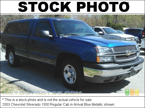 Stock photo for this 2003 Chevrolet Silverado 1500 Regular Cab 4.3 Liter OHV 12-Valve Vortec V6 5 Speed Manual