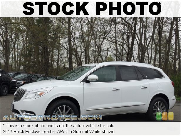 Stock photo for this 2017 Buick Enclave Leather AWD 3.6 Liter DOHC 24-Valve VVT V6 6 Speed Automatic