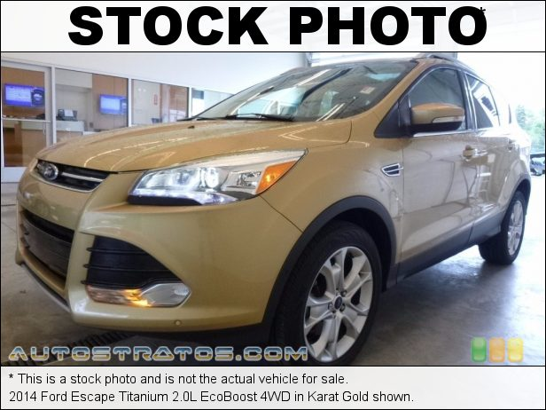 Stock photo for this 2014 Ford Escape Titanium 2.0L EcoBoost 4WD 2.0 Liter GTDI Turbocharged DOHC 16-Valve Ti-VCT EcoBoost 4 Cyli 6 Speed SelectShift Automatic