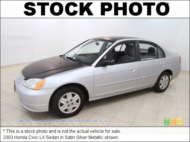 Stock photo for this 2003 Honda Civic LX Sedan 1.7 Liter SOHC 16V 4 Cylinder 4 Speed Automatic