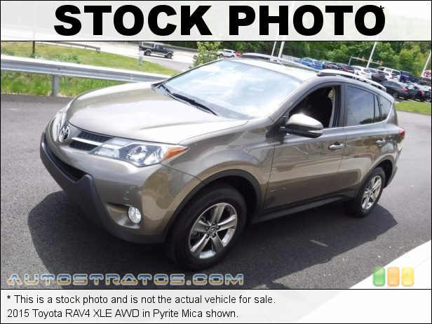 Stock photo for this 2015 Toyota RAV4 XLE AWD 2.5 Liter DOHC 16-Valve Dual VVT-i 4-Cylinder 6 Speed ECT-i Automatic