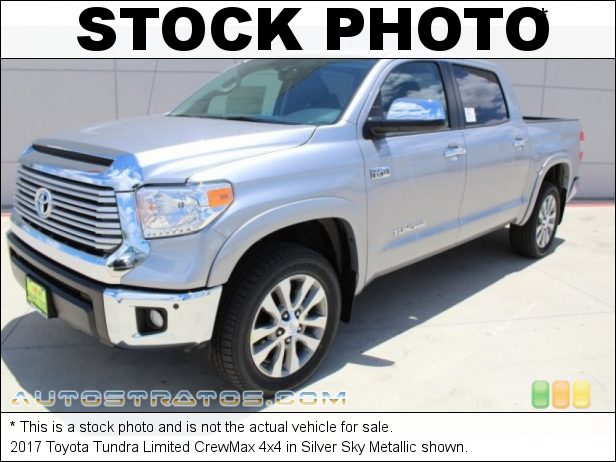 Stock photo for this 2017 Toyota Tundra Limited CrewMax 4x4 5.7 Liter i-Force DOHC 32-Valve VVT-i V8 6 Speed ECT-i Automatic