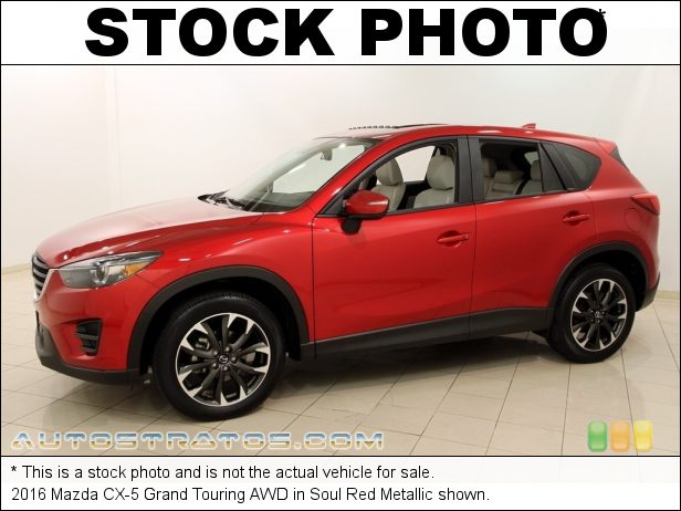 Stock photo for this 2016 Mazda CX-5 Grand Touring AWD 2.5 Liter DI DOHC 16-Valve VVT SKYACTIV-G 4 Cylinder 6 Speed Sport Automatic
