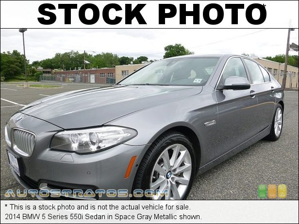 Stock photo for this 2014 BMW 5 Series 550i Sedan 4.4 Liter DI TwinPower Turbocharged DOHC 32-Valve VVT V8 8 Speed Steptronic Automatic