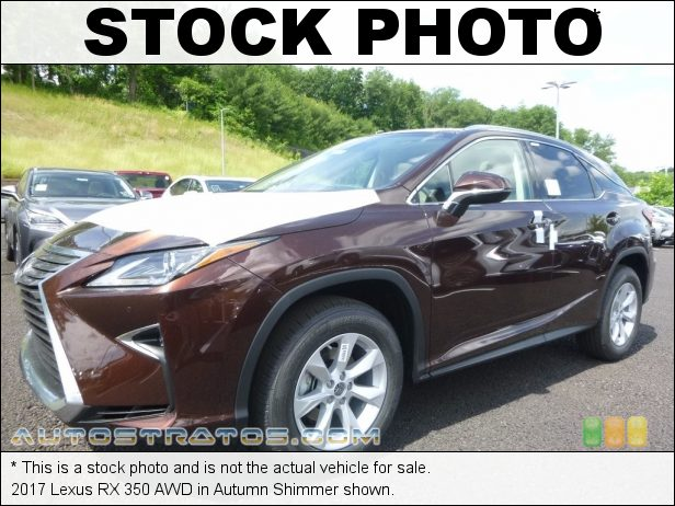 Stock photo for this 2017 Lexus RX 350 AWD 3.5 Liter DOHC 24-Valve VVT-i V6 8 Speed ECT Automatic