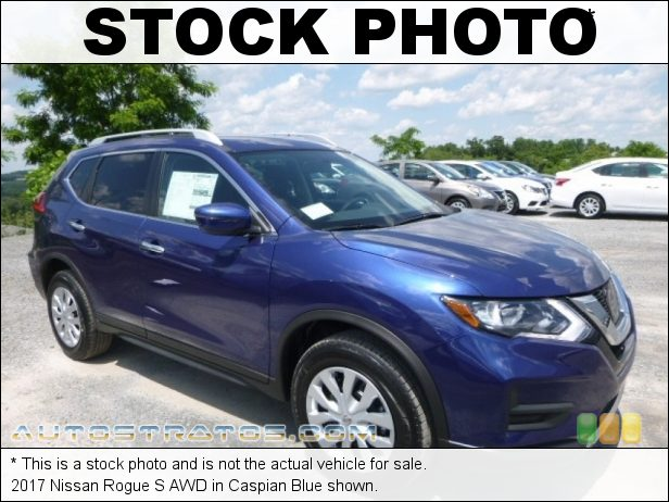 Stock photo for this 2017 Nissan Rogue S AWD 2.5 Liter DOHC 16-Valve VVT 4 Cylinder Xtronic CVT Automatic