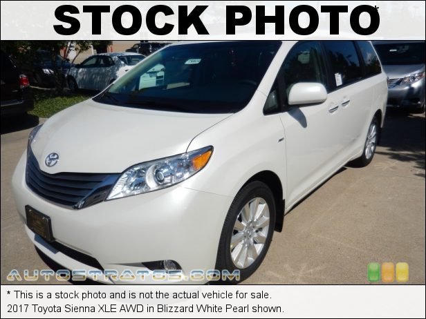 Stock photo for this 2017 Toyota Sienna AWD 3.5 Liter DOHC 24-Valve Dual VVT-i V6 8 Speed Automatic