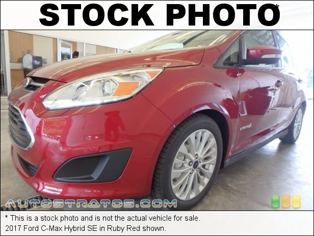 Stock photo for this 2017 Ford C-Max Hybrid SE 2.0 Liter Atkinson-Cycle DOHC 16-Valve 4 Cylinder Gasoline/Elect eCVT Automatic