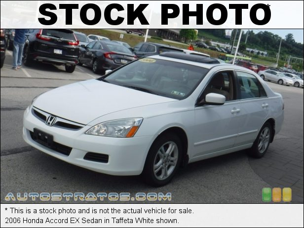 Stock photo for this 2006 Honda Accord EX Sedan 2.4L DOHC 16V i-VTEC 4 Cylinder 5 Speed Automatic