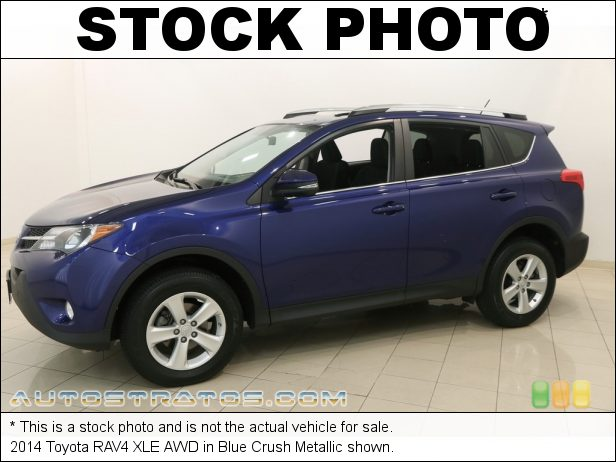 Stock photo for this 2014 Toyota RAV4 XLE AWD 2.5 Liter DOHC 16-Valve Dual VVT-i 4 Cylinder 6 Speed ECT-i Automatic