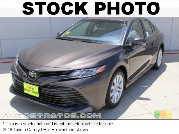 Stock photo for this 2018 Toyota Camry  2.5 Liter DOHC 16-Valve Dual VVT-i 4 Cylinder 8 Speed Automatic