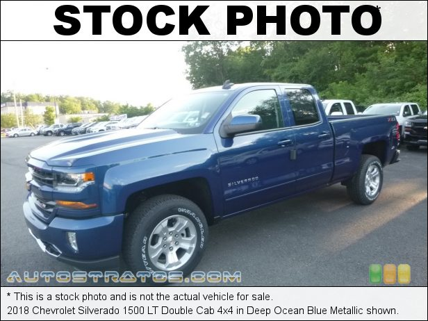 Stock photo for this 2018 Chevrolet Silverado 1500 LT Double Cab 4x4 5.3 Liter DI OHV 16-Valve VVT EcoTech3 V8 6 Speed Automatic