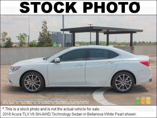 Stock photo for this 2018 Acura TLX V6 SH-AWD Technology Sedan 3.5 Liter SOHC 24-Valve i-VTEC V6 9 Speed Automatic
