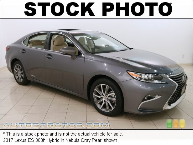 Stock photo for this 2017 Lexus ES 300h Hybrid 2.5 Liter DOHC 24-Valve VVT-i V6 Gasoline/Electric Hybrid ECVT-i Automatic