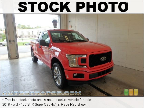 Stock photo for this 2018 Ford F150 SuperCab 4x4 2.7 Liter DI Twin-Turbocharged DOHC 24-Valve EcoBoost V6 10 Speed Automatic