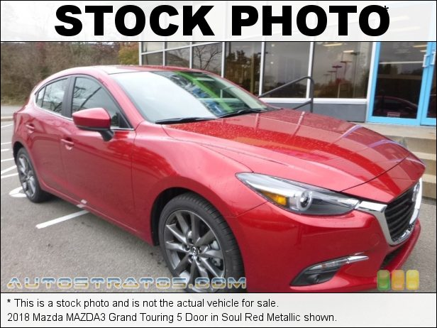 Stock photo for this 2018 Mazda MAZDA3 Grand Touring 5 Door 2.5 Liter SKYACTIV-G DI DOHC 16-Valve VVT 4 Cylinder 6 Speed Manual