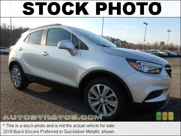 Stock photo for this 2018 Buick Encore Preferred 1.4 Liter Turbocharged DOHC 16-Valve VVT 4 Cylinder 6 Speed Automatic