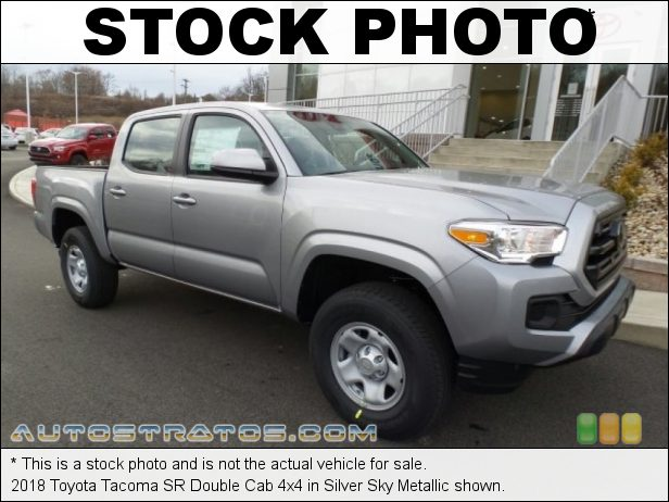 Stock photo for this 2018 Toyota Tacoma Double Cab 4x4 3.5 Liter DOHC 24-Valve VVT-i V6 6 Speed Automatic