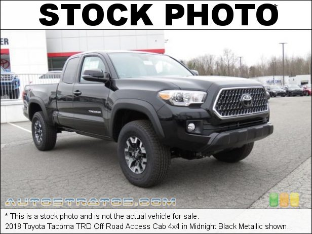 Stock photo for this 2018 Toyota Tacoma Access Cab 3.5 Liter DOHC 24-Valve VVT-i V6 6 Speed Automatic