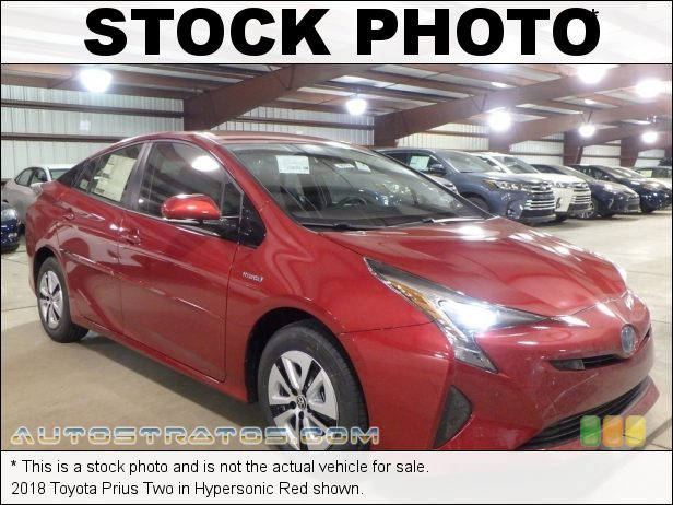 Stock photo for this 2018 Toyota Prius  1.8 Liter DOHC 16-Valve VVT-i 4 Cylinder Gasoline/Electric Hybri ECVT Automatic