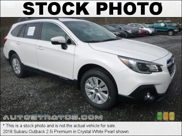 Stock photo for this 2018 Subaru Outback 2.5i Premium 2.5 Liter DOHC 16-Valve VVT Flat 4 Cylinder Lineartronic CVT Automatic