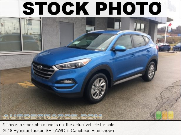Stock photo for this 2018 Hyundai Tucson SEL AWD 2.0 Liter DOHC 16-valve D-CVVT 4 Cylinder 6 Speed Automatic