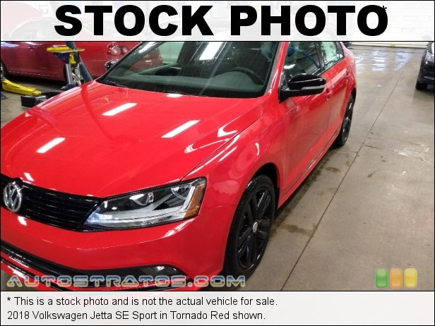 Stock photo for this 2018 Volkswagen Jetta SE Sport 1.8 Liter TSI Turbocharged DOHC 16-Valve VVT 4 Cylinder 6 Speed Automatic