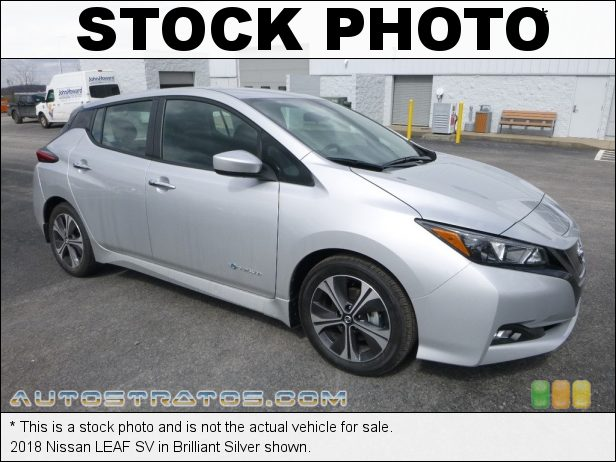 Stock photo for this 2018 Nissan LEAF SV 110kW/147hp AC Synchronous Electric Motor Direct Drive 1 Speed Automatic